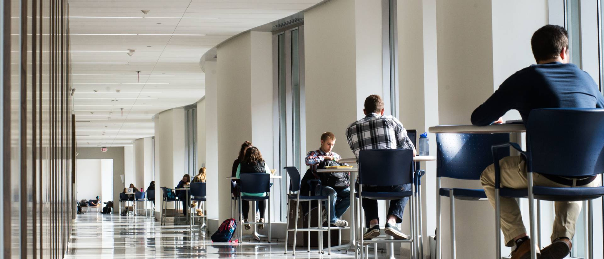 students studying in Centennial Hall