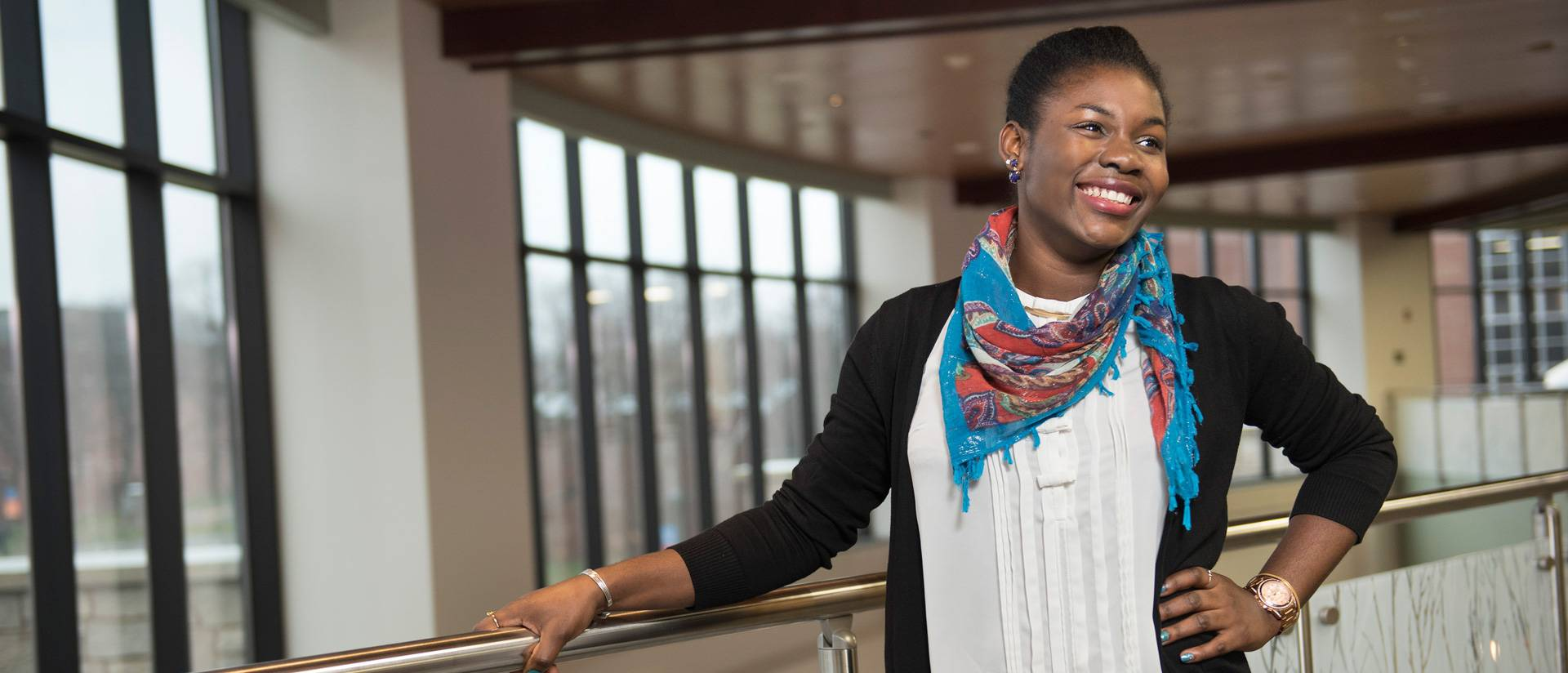 UW-Eau Claire student Magdalene Abang