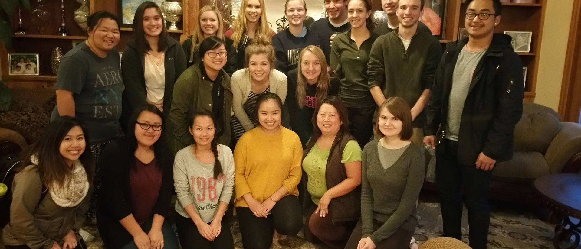 Ka Vang's Hmong Culture class poses for a group picture.