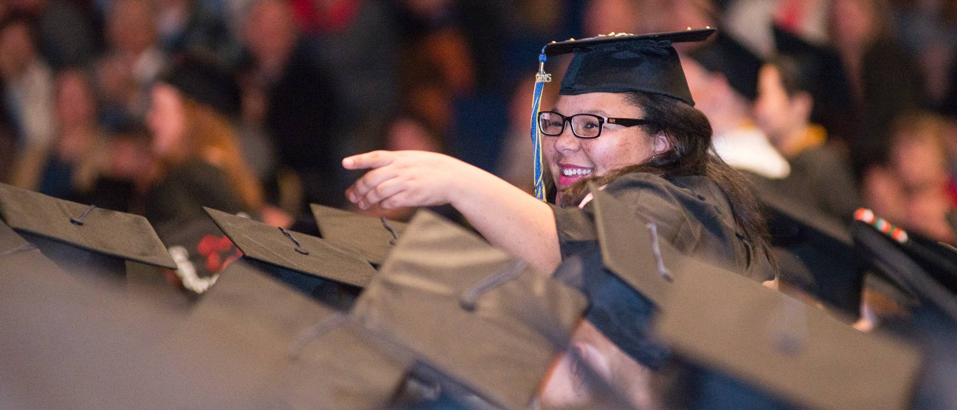 UWEC graduate at December 2015 Commencement
