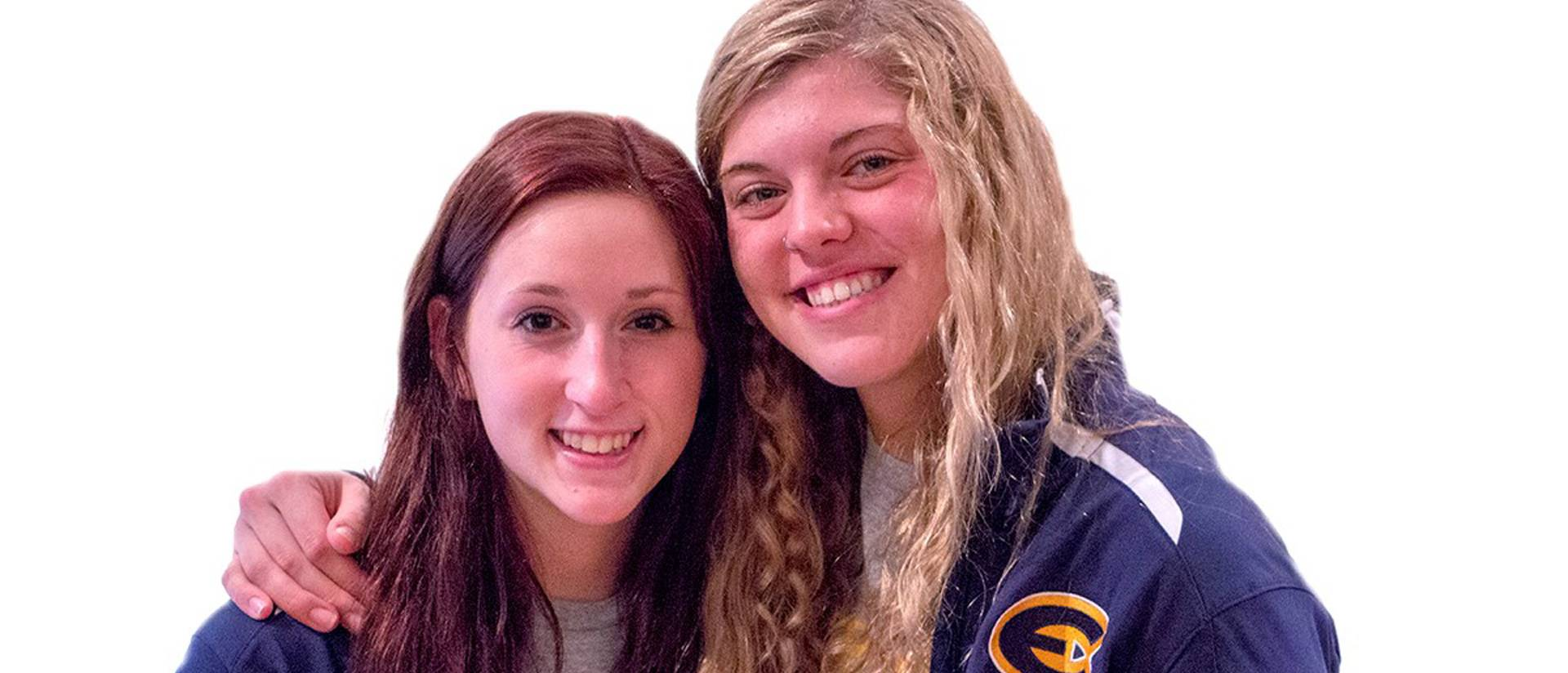 Blugold swimmers Jessica Short (left) and Sam Senczyszyn
