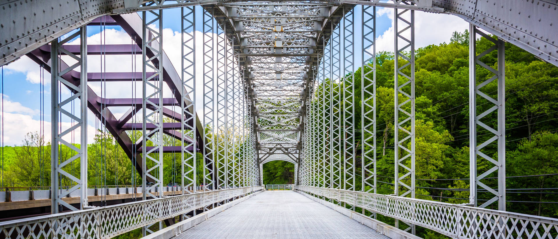 The Old Paper Mill Road Bridge over Loch Raven Reservoir in Baltimore, Maryland