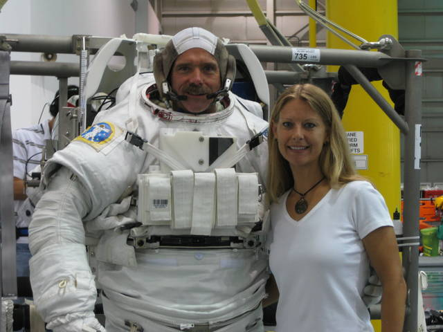 Susan Lederer and Canadian astronaut Chris Hadfield, famous for his YouTube video of David Bowie cover from space.