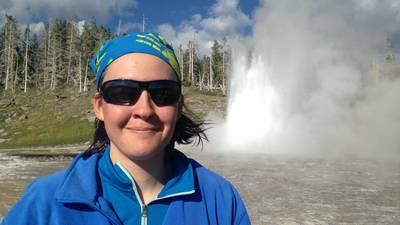 Mara Reed in Yellowstone.