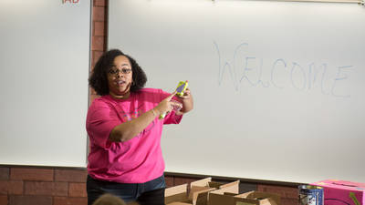 Dr. Dandrielle Lewis, assistant professor of mathematics, is UW-Eau Claire's recipient of the UW System Outstanding Women of Color in Education Award.