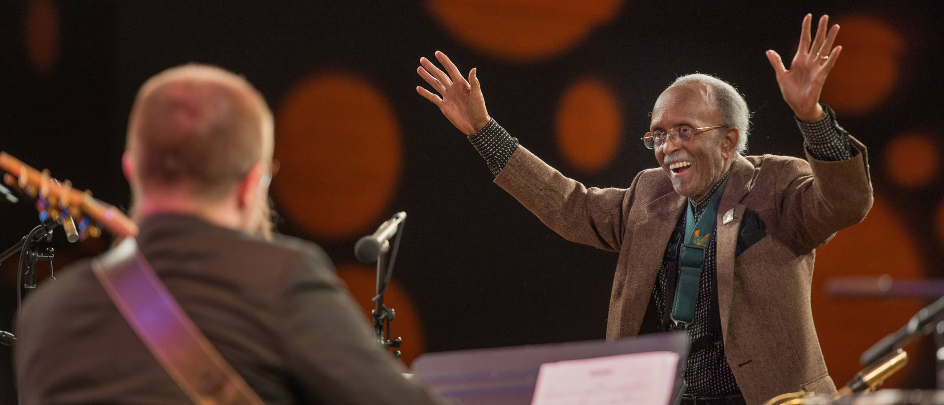 Jimmy Heath conducting Jazz Ensemble I