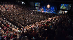 commencement ceremony in Zorn Arena