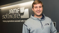 UW-Eau Claire alumnus Christian Dooley at his employer, JAMF Software