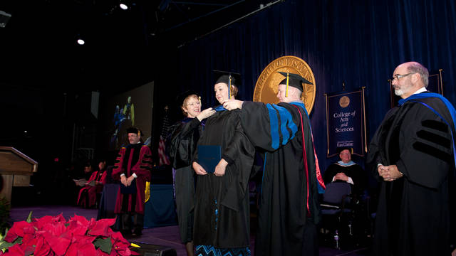 COB MBA hooding at Commencement