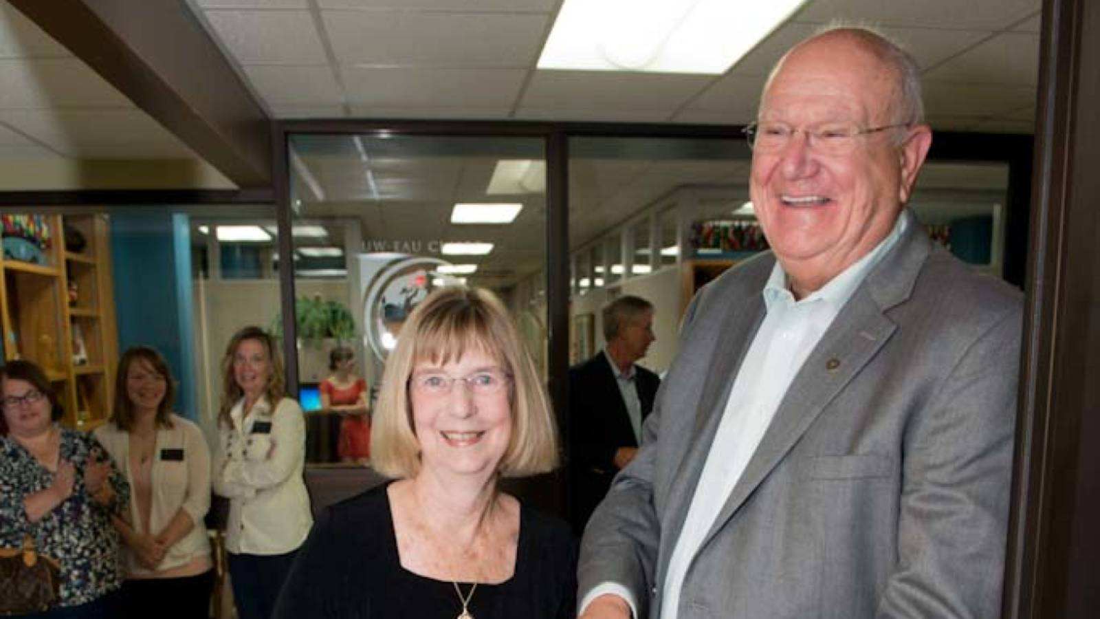William J. and Marian A. Klish at the opening of the Health Careers Center.