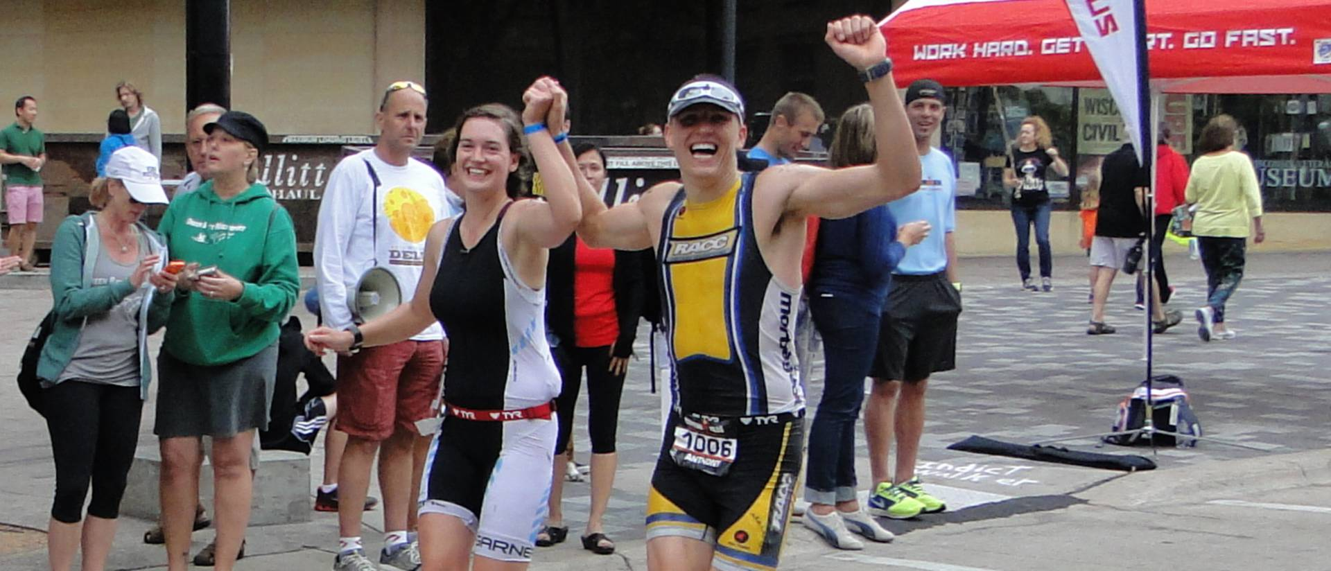 Anthony Jagielo and Deana Petersen competed in Wisconsin's Ironman competition in September in Madison.