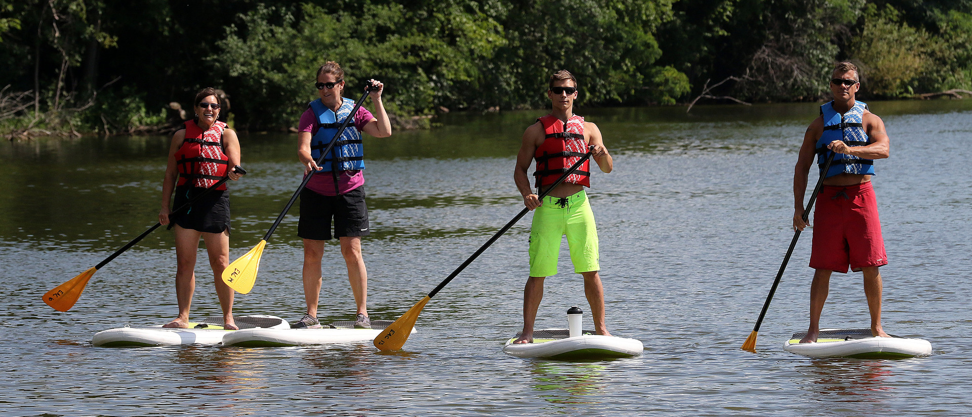 University Recreation paddleboarding class