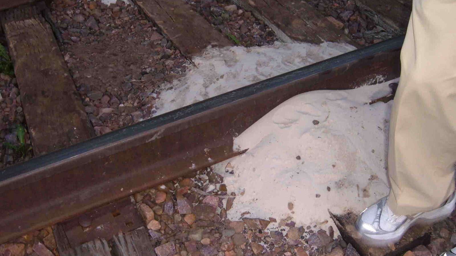 Frac Sand on railroad tracks