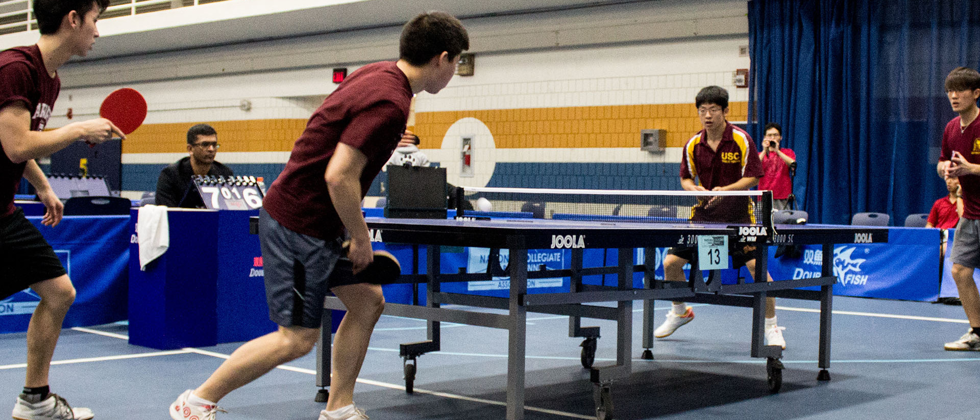 Participants in 2015 Collegiate Table Tennis National Championships at UW-Eau Claire