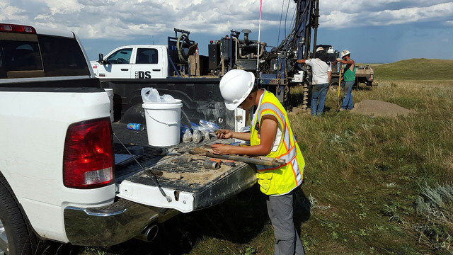 UW-Eau Claire geology student Sarah Kintner during her summer 2015 internship with Barr Engineering in Minneapolis.