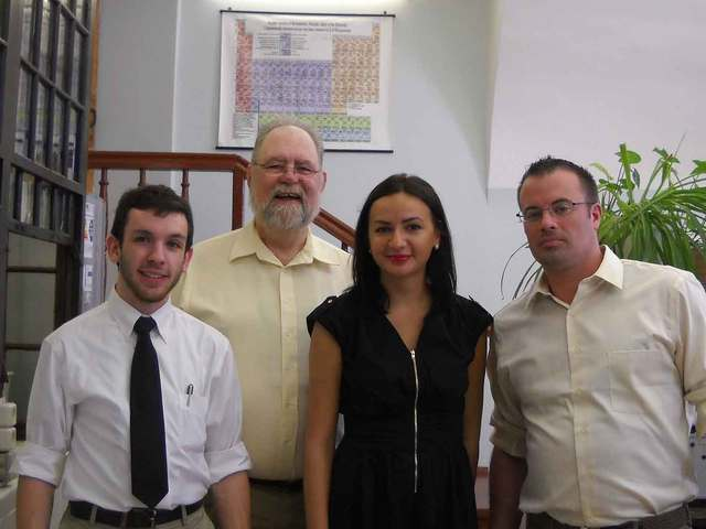 David Lewis and students at Kazan Federal University in Russia