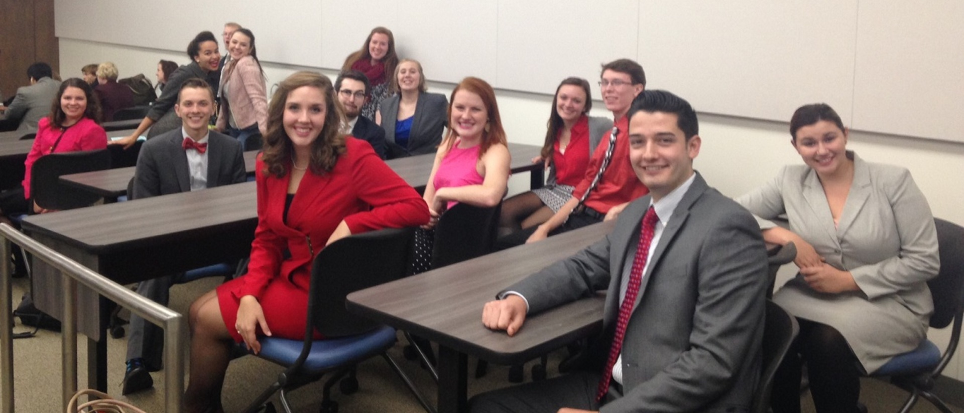 Forensics team members who competed in MAFL