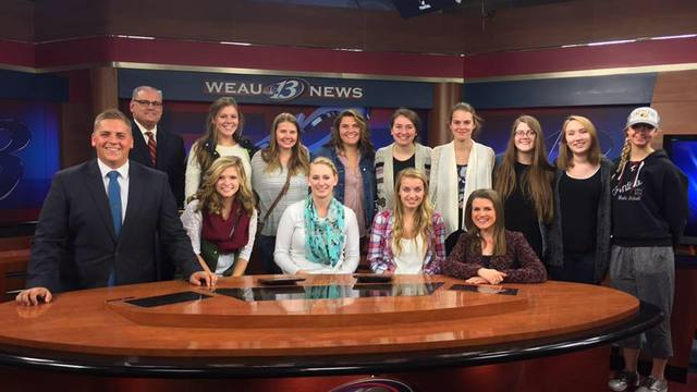 Students at WEAU 13 news