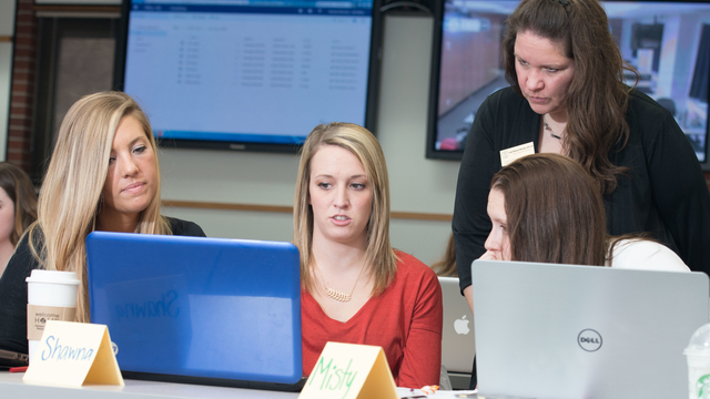 UW-Eau Claire Nursing students in class