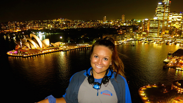 UW-Eau Claire student studying abroad in Australia