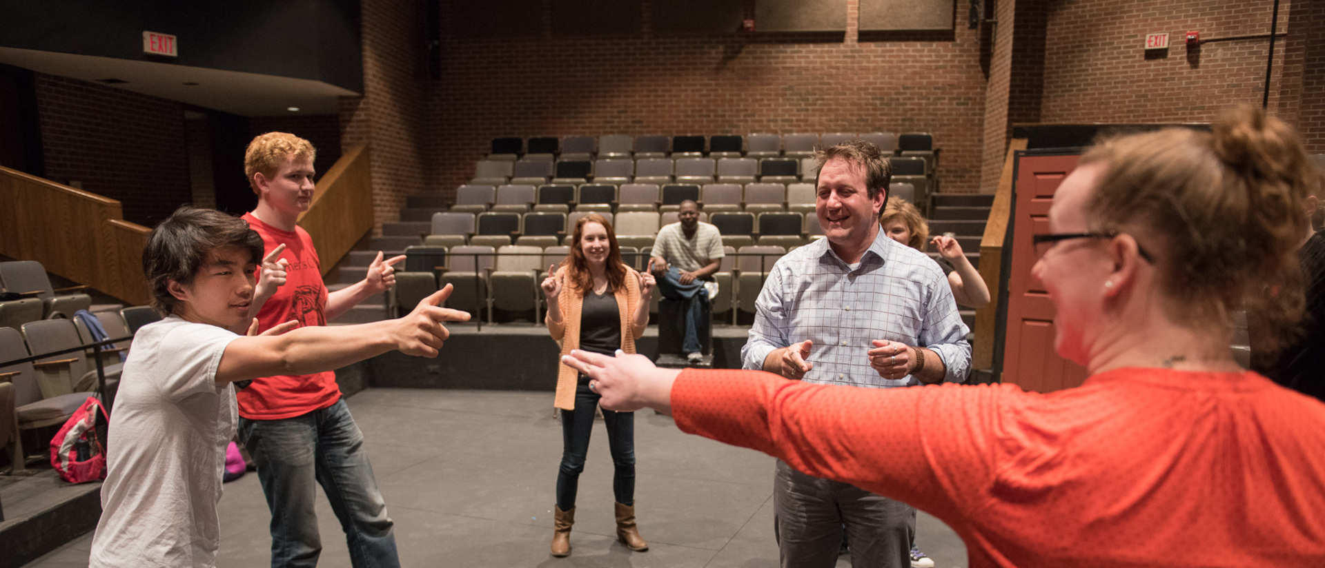 Acting class on campus at UW-Eau Claire