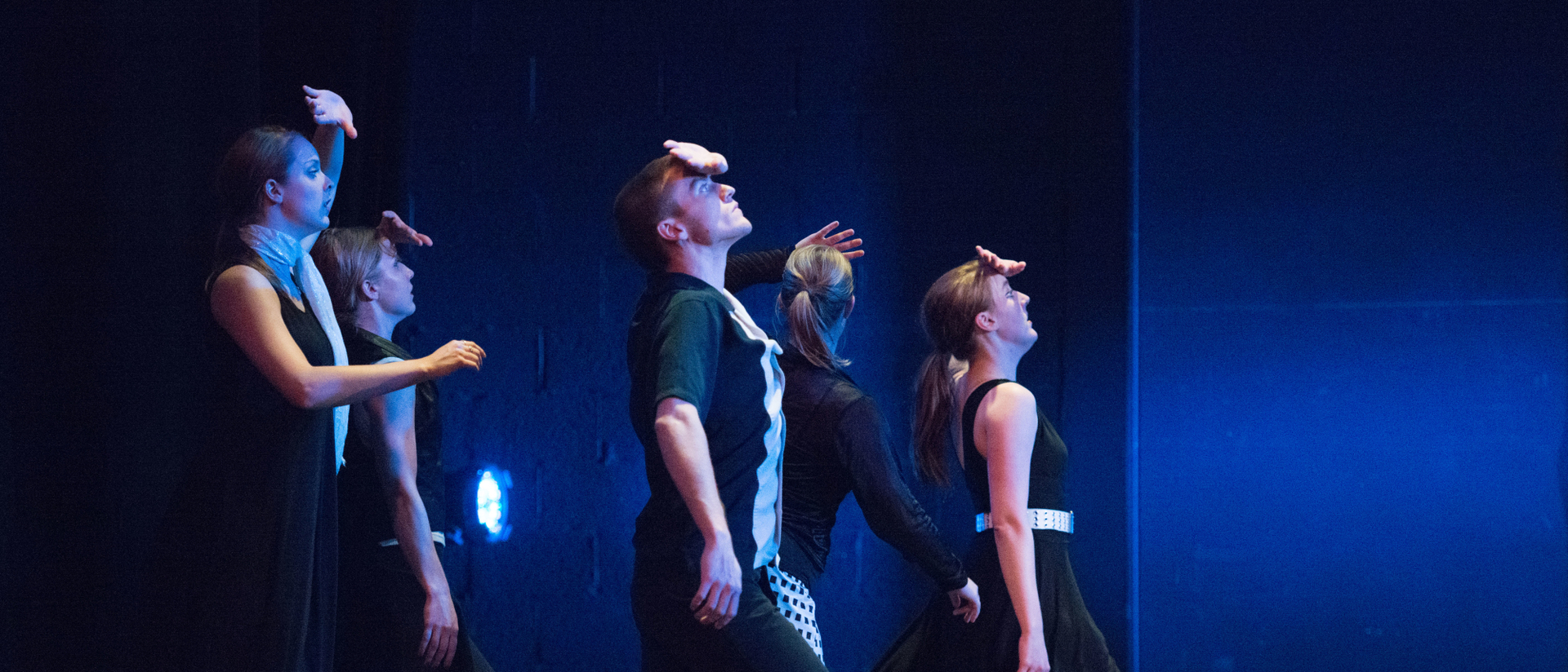 Students on stage performing at annual Danceworks show