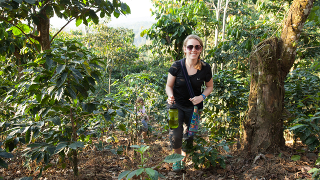 A geography student explores the jungle in Guatemala.