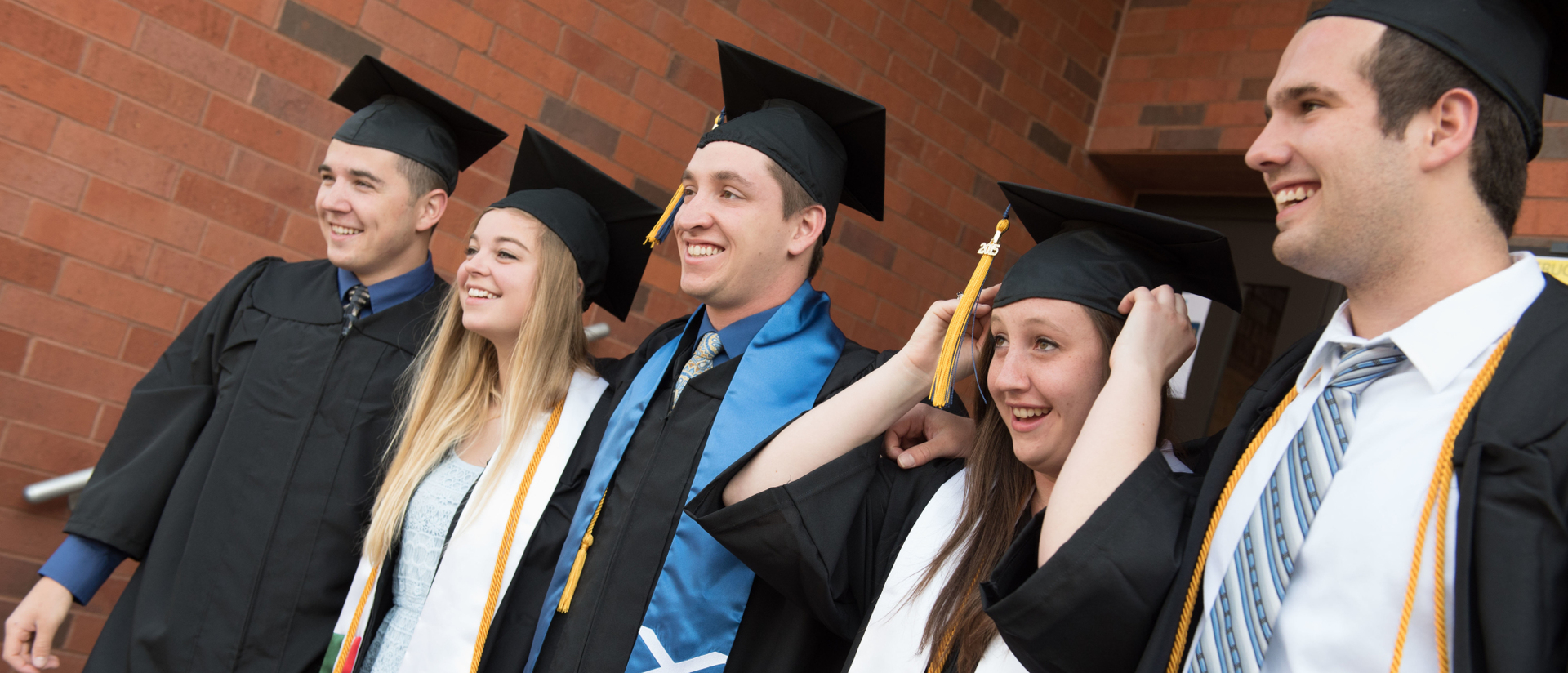 UWEC Honors students at graduation