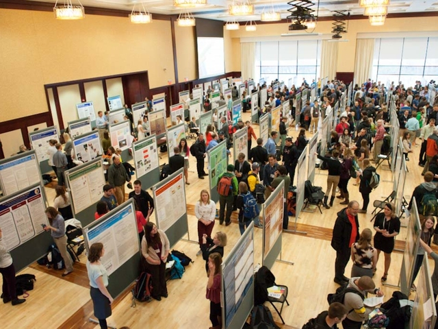 UWEC students presenting research at yearly CERCA event