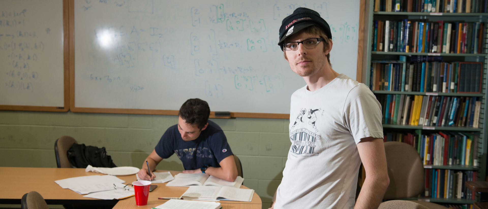 Photo of math student Chris Magyar.
