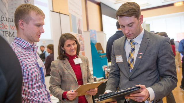 Get an internship at the career fair
