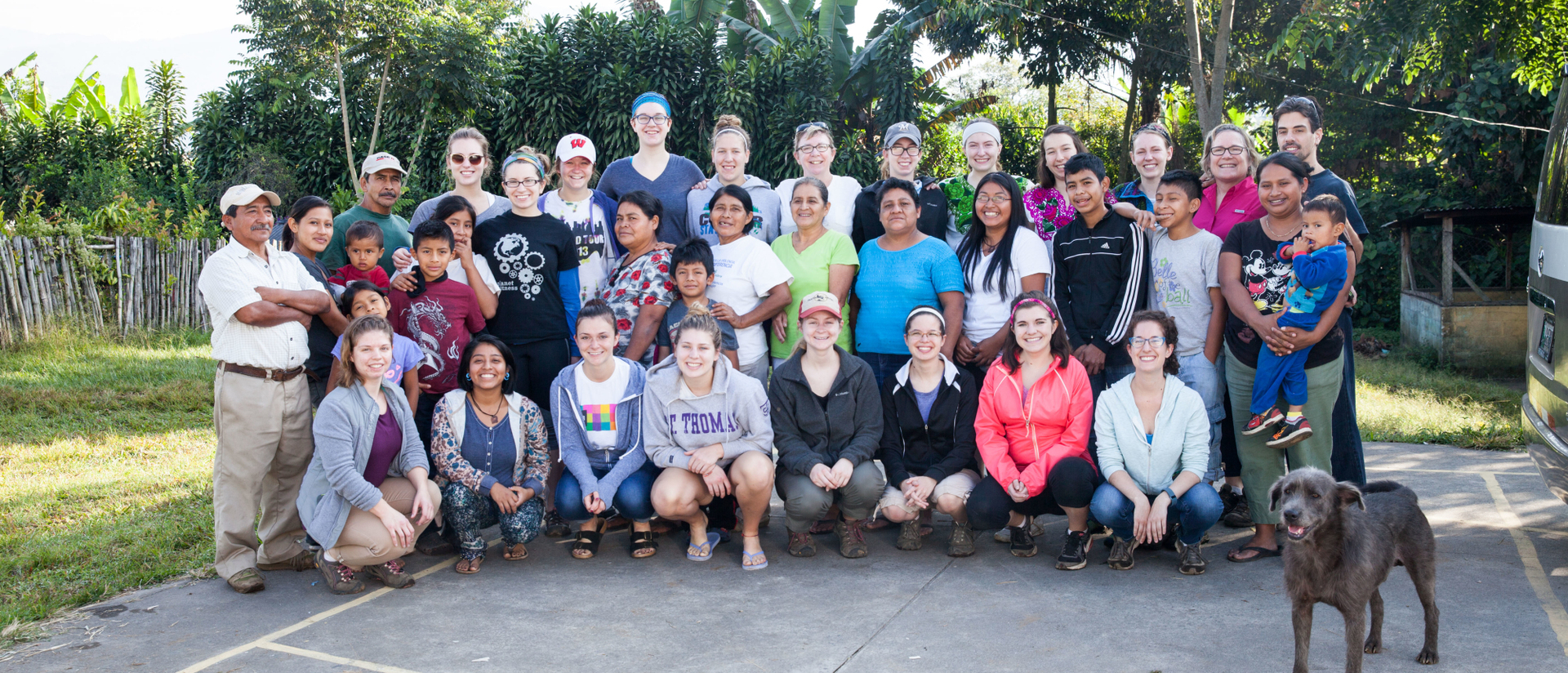 Students during Guatemala immersion trip