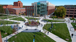 UW-Eau Claire campus mall