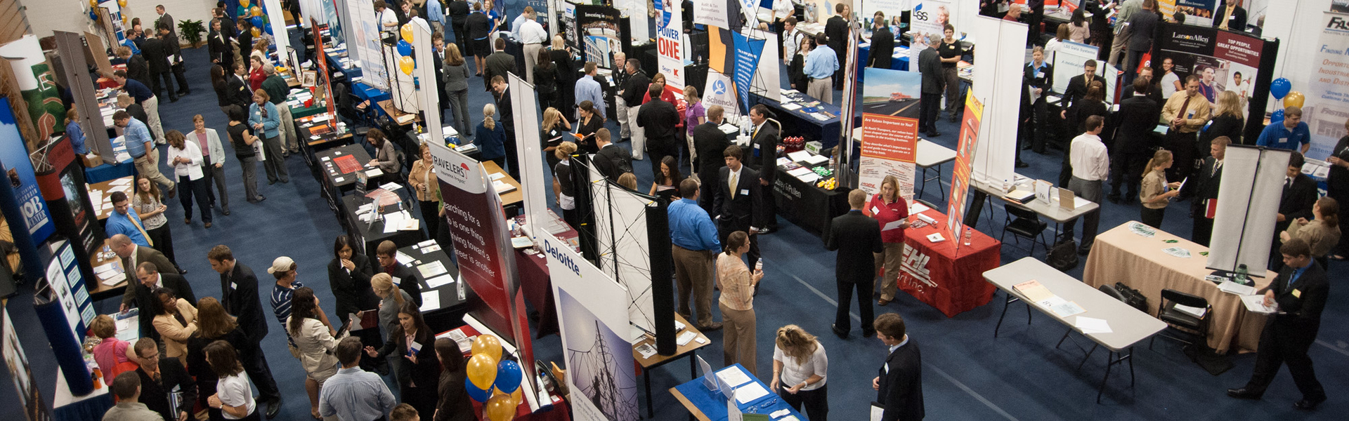 Students and employers at Career Conference