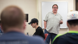 Dr. Geoff Peterson is fielding many questions from his political science students at UW-Eau Claire about the unusual 2016 presidential election.