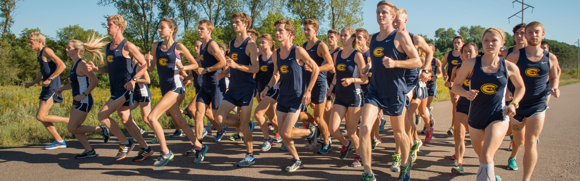 UWEC men's and women's cross country teams
