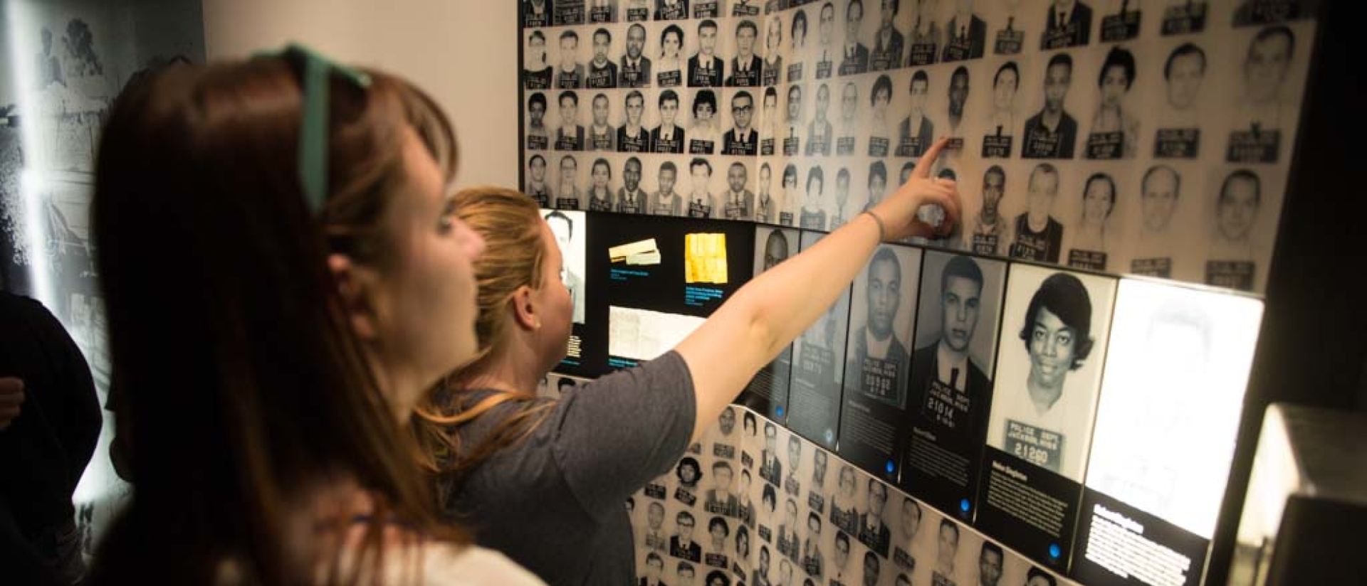Student study board during Civil Rights Pilgrimage