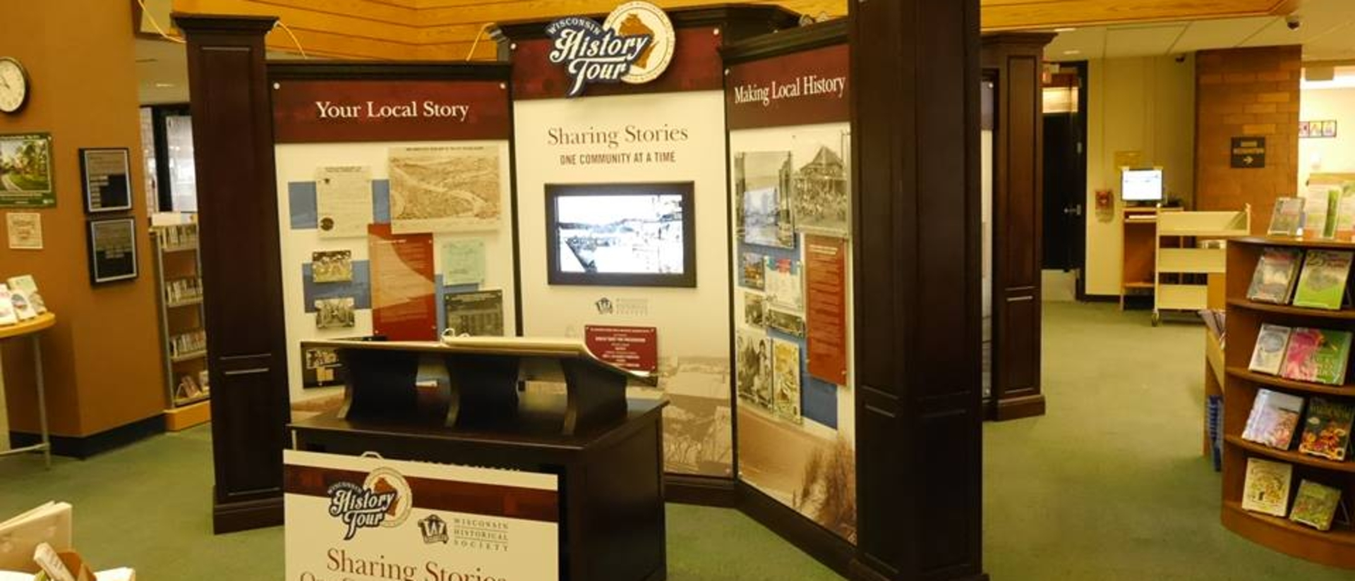 Wisconsin History Tour display
