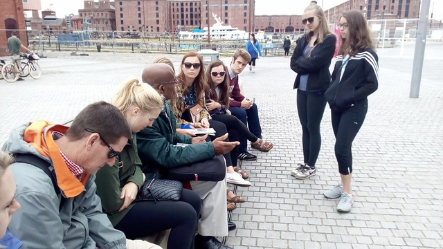 History students during a study abroad program