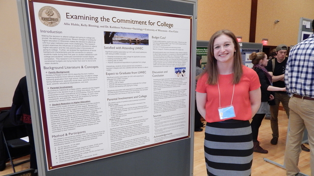 Student, Aly Hable, presents research at CERCA