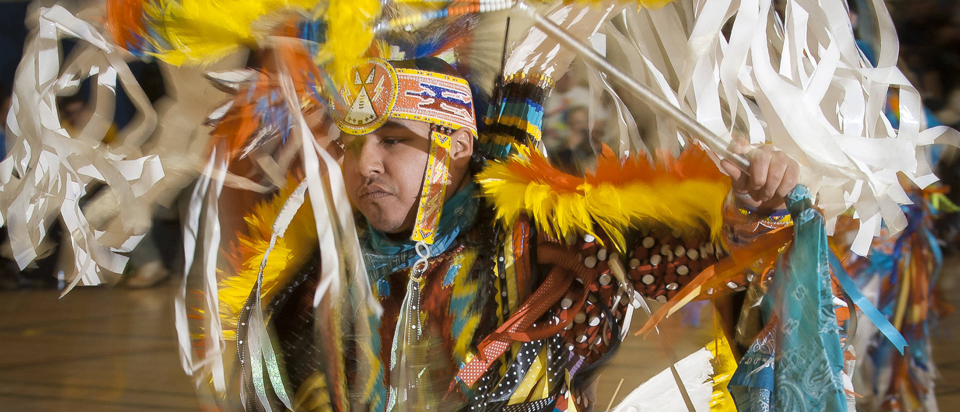Professional dancer at Honoring education Powwow 2015
