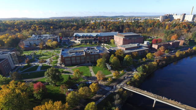 aerial view of lower campus