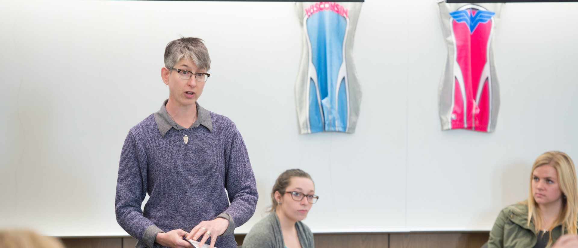 Dr. Forman in classroom