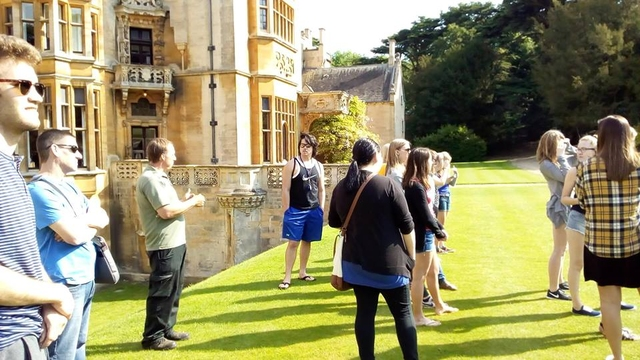 Students on a tour during Public history in England program