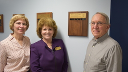 Bliss Award 2016 recipient Debra Hofmann and Mary and Fred Bliss