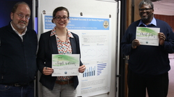 Anneli Williams and Dr. David Jones accept their NCHC awards for their poster.