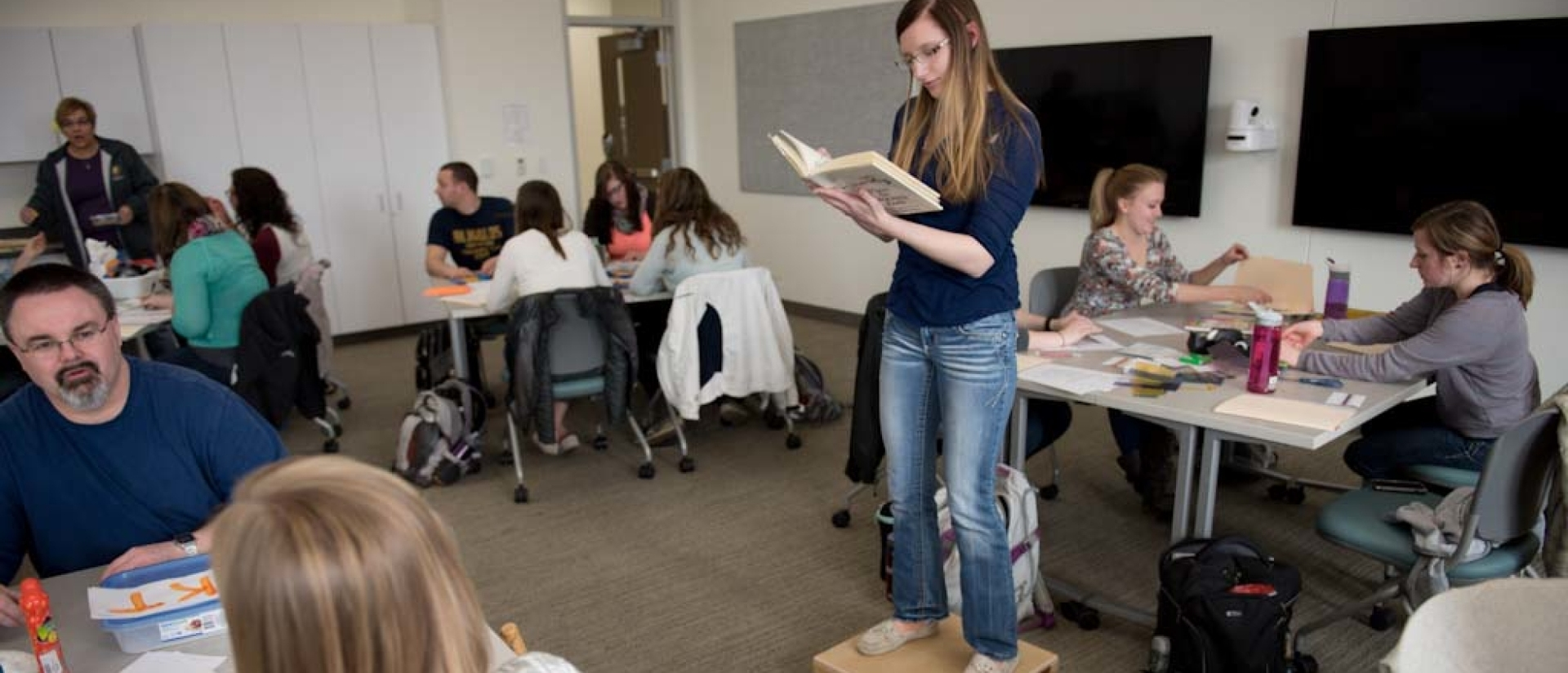 Blugolds in adaptive learning education class