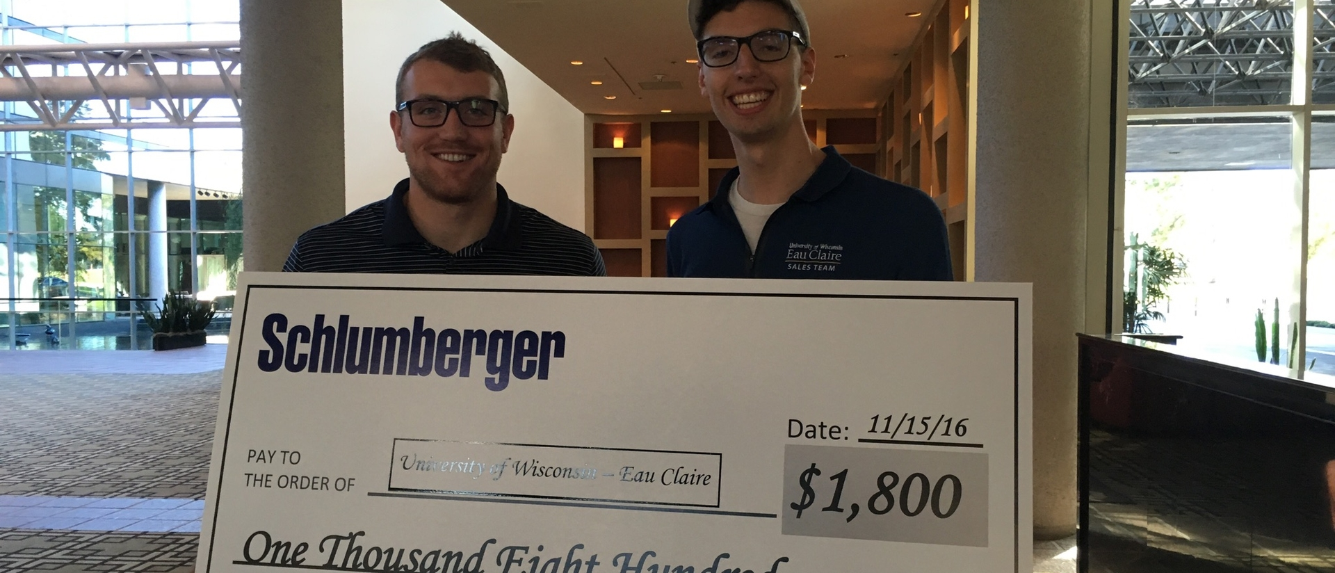 Schlumberger check with students