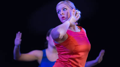 Students performing in UW-Eau Claire's Danceworks production