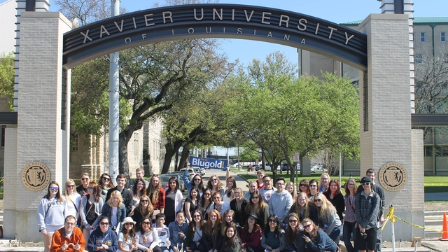 Class of students at Xavier University.